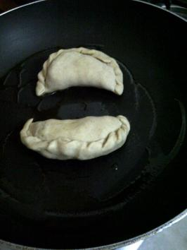 Making Samosa Pot Stickers 2